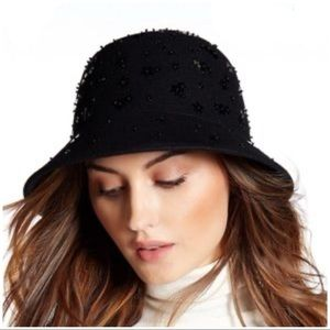 Kate Spade Embellished Felted Wool Cloche